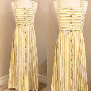 RACHEL ZOE Striped Linen Dress